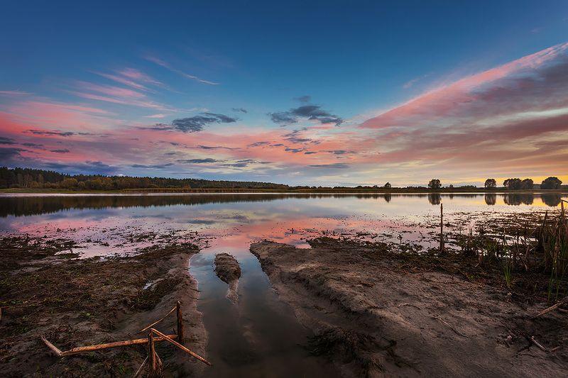 природа, пейзаж, закат, озеро, Nature, landscape, sunset Закатphoto preview