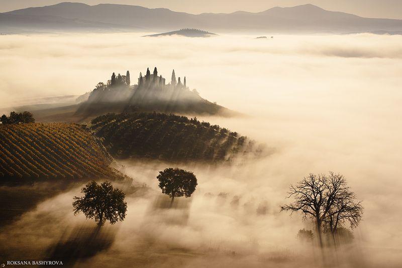 landscape, tuscany Tuscany sunrisephoto preview