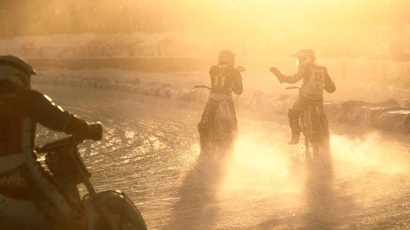 репортаж, спидвей, победа, Урал, зима, закат, контровый свет,  Братья.photo preview