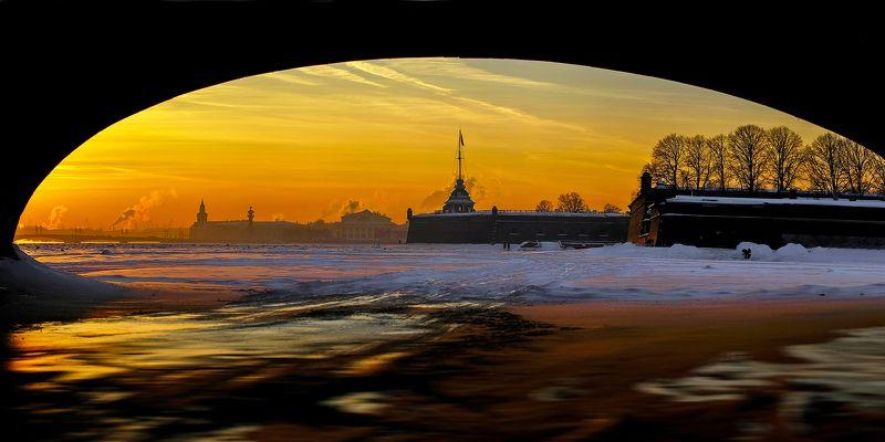 зима, лед, снег, крепость, город, пейзаж, панорама Январьphoto preview