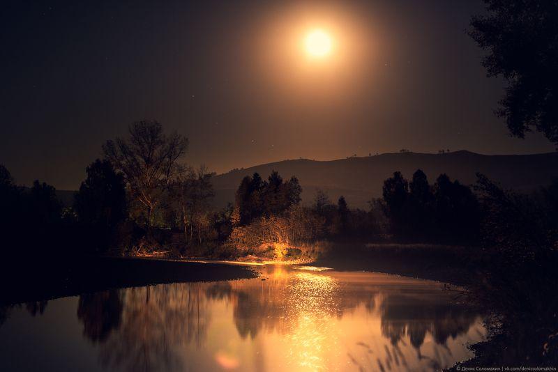 #landscape #light #yellow #autumn #altai #russia #siberia #river #nikon #nikond750 #katun #moon #gold #night #moonlight #пейзаж #свет #желтый #осень #алтай #россия #река #никон #riverside #берегреки Лунное золотоphoto preview