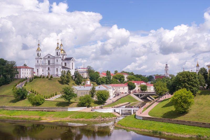 Витебск, река, Западная Двина, Собор, город, небо, облака Витебскphoto preview