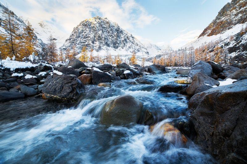 Алтай, пейзаж, Россия Долина Актру. Алтайphoto preview