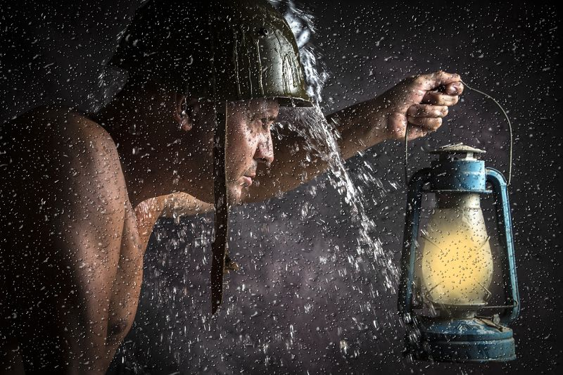 #portait #man #rain #water #light #night #still life military lifephoto preview