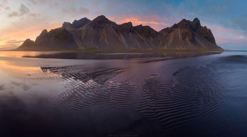вестрахон, исландия, пейзаж, горы, гора, панорама, побережье, стоккснес, iceland. stokksnes, vestrahorn, nature, panorama, landscape, Вестрахорн на закатеphoto preview