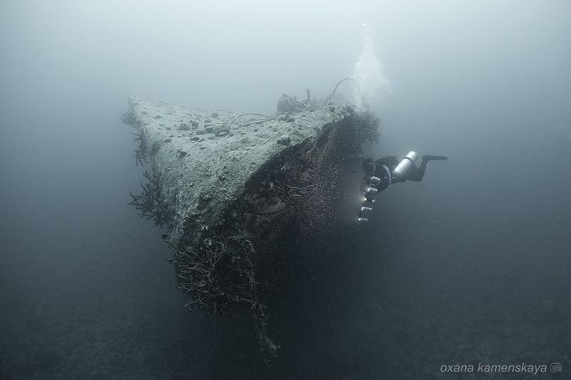 underwater wreck ship diver Wreck El Mina.photo preview