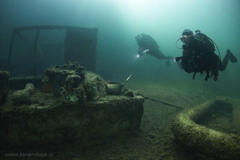 underwater wreck diver mine rummu Привал голодного дайвераphoto preview