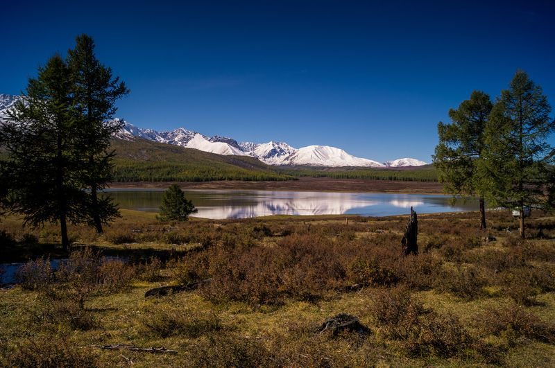 природа  алтай озеро  караколь горы пейзаж путешествие осень ештыкель Озеро Караколь...photo preview