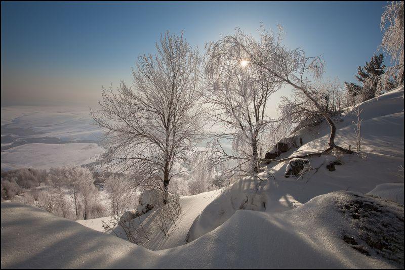 алтай, зима, бабырган, утро, снег, иней Морозное Февральское Утро на горе Бабырганphoto preview