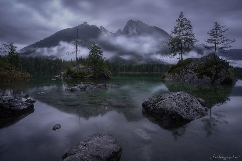 bavaria, beach, berchtesgaden, blue, calmness, clouds, duck, europe, fog, foggy, forest, germany, green, harmony, hintersee, lake, lights, mist, misty, morning, mountains, nature, outdoors, rainy, ramsau, reflections, rock, seaside, serenity, shore, still Anybody Out There?photo preview