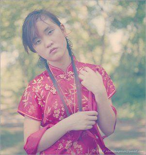 Sad chinese girl...