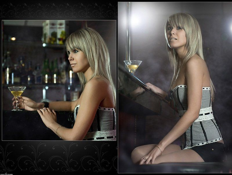 девушка, бар, ночь ***photo preview