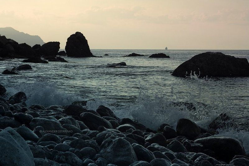 новый свет, море, горы, пезажи крыма, крым Новый Свет. Утро в заповеднике.photo preview