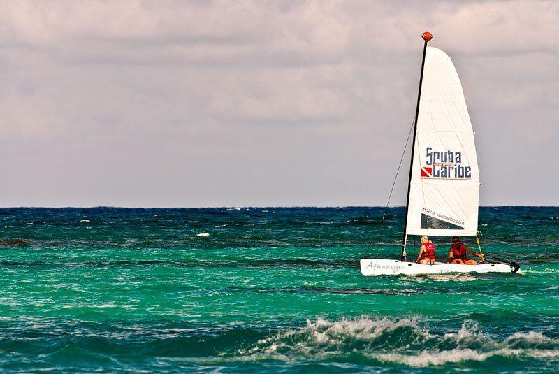 парус, яхта, атлантика, карибы, доминикана под парусомphoto preview