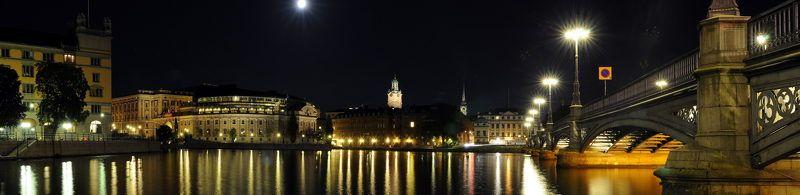 швеция, стокгольм Кусочек ночного Стокгольмаphoto preview