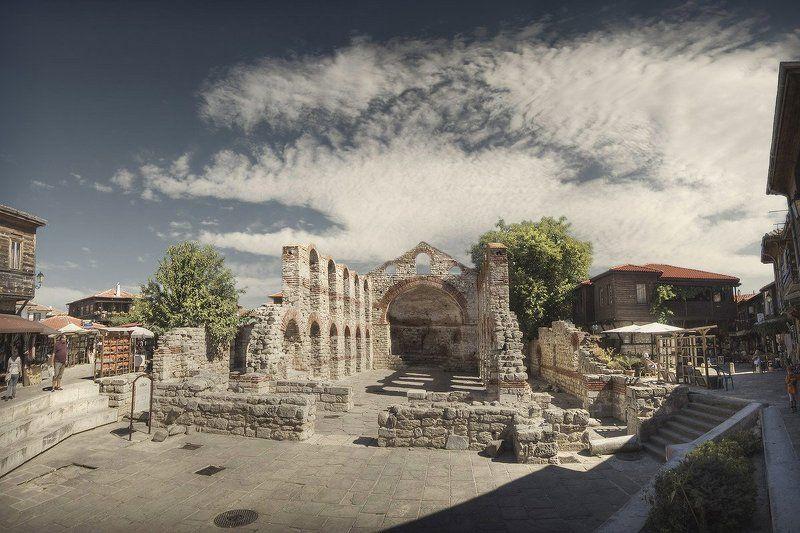 несебр, болгария, базилика, руины Церковь Святой Софииphoto preview
