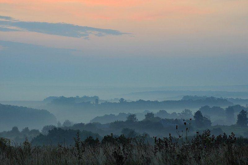 пейзаж, природа осенние туманыphoto preview