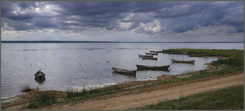 браслав, дривяты, озеро, лодки, камыш, вечер, лето, точи, берег, дорога, беларусь Вечер на озере Дривятыphoto preview