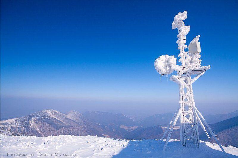 горы, антена, снег Эфирphoto preview