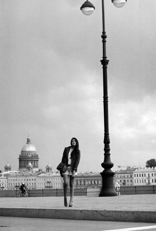 питер, пленка, ч\\\\б, портрет, город Her city.photo preview