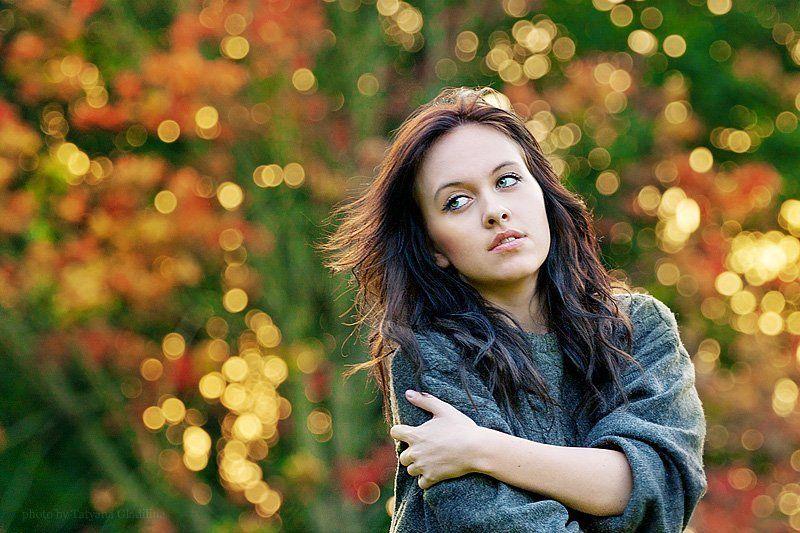 фон, осень, девушка ***photo preview