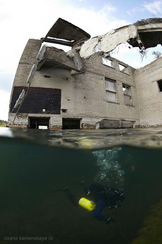 underwater wreck diver mine rummu Сплитphoto preview