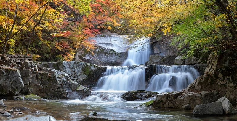 waterfalls, Autumn, fall, forest, colors Bangtaesan waterfallsphoto preview