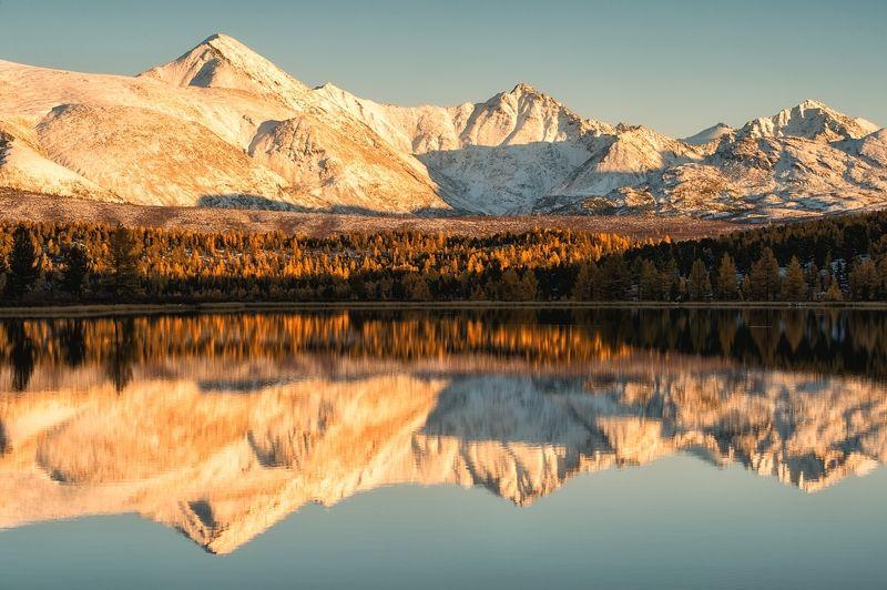 горный алтай, дикая природа россии, россия, толмачев дмитрий, рассвет, горы, сибирь, зеркальное открытие...photo preview