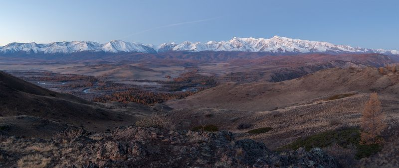 горный алтай, осень, северо-чуйский хребет, горы Рассветнаяphoto preview