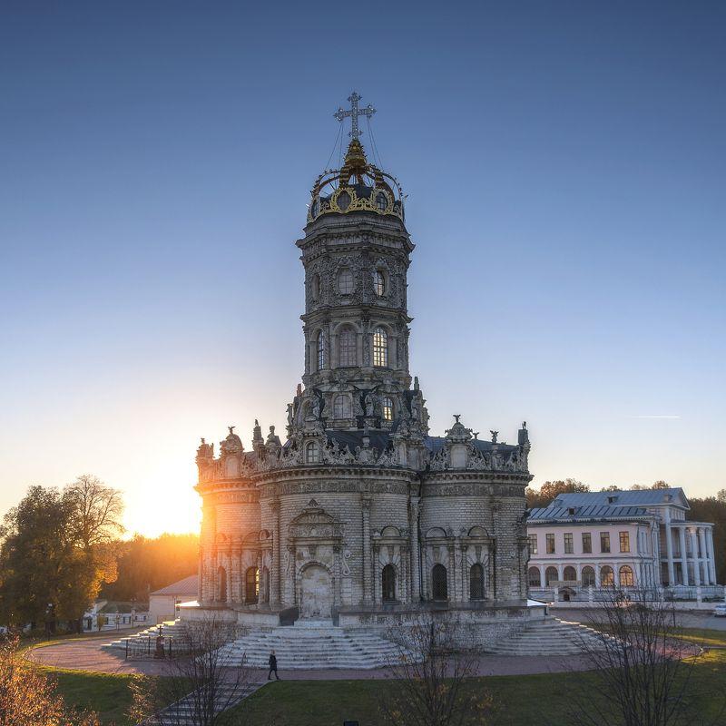 осень,храм,закат,солнце,усадьба,россия,подольск В лучах солнечного света!photo preview