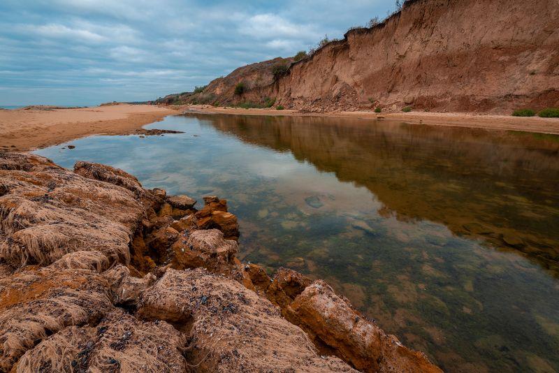 меркулов, николай меркулов, nmerkulov, nmerkulovphotography, пейзаж, море, рассвет, берег, оползень, морское дно, водоросли, вода, песок, отражения, Морское Дно / Seabedphoto preview