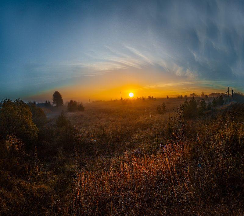 Россия, рассвет, солнце, Иваново, Лежнево,  Пламенный светphoto preview
