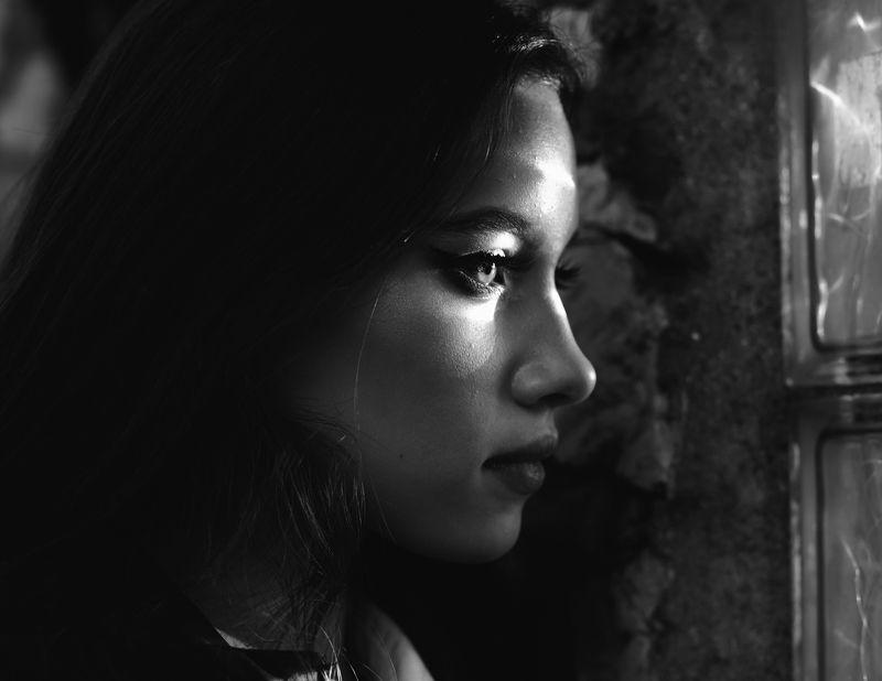 портрет, чб, девушка Надеждаphoto preview