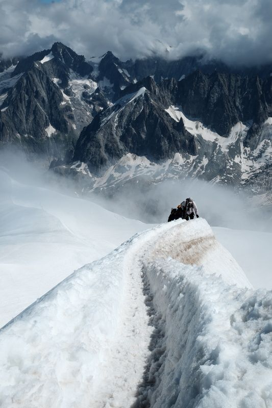 горы, альпинизм, восхождение, альпы, монблан, mountains, alpinism, mountaineering, alps, mont blanc, эгюий-дю-миди, aiguille du midi, франция, france По дороге на Эгюий-дю-Мидиphoto preview