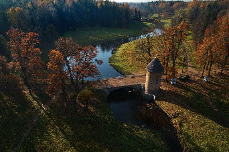 пейзаж, павловск, золотая осень, dji phantom 4 pro Павловск. Осеннее утро.photo preview
