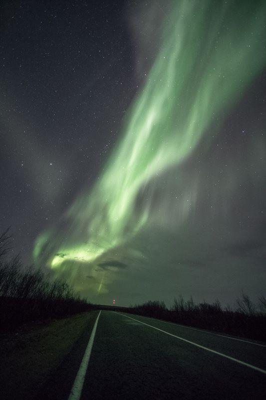 пейзаж, Кольский п-ов, Мурманская обл., природа, северное сияние ***photo preview