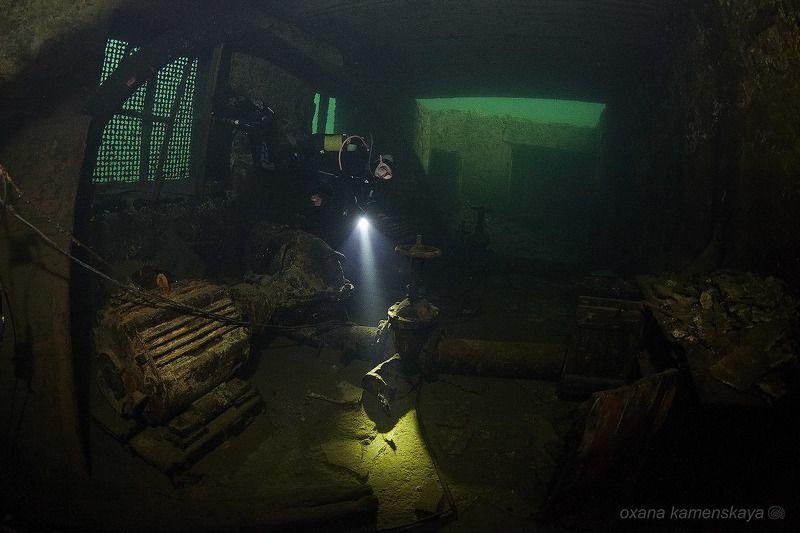 underwater wreck diver mine rummu Насоснаяphoto preview