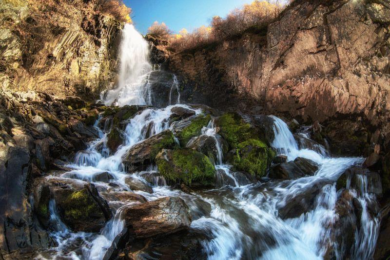 waterfall autumn mountains landscape nature природа водопад пейзаж осень Чучхурский водопад.photo preview