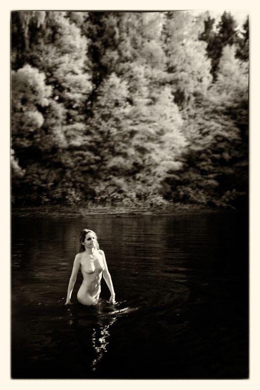 Лето, озеро, ню, девушка, ir, инфракрасная фотография, природа Летоphoto preview