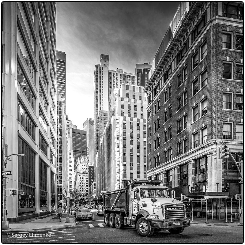 downtown, manhattan, new york, nyc, city, bw, architecture Streets of Downton, New Yorkphoto preview