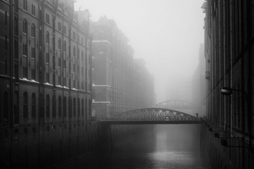 Kehrwiederfleet im Nebel