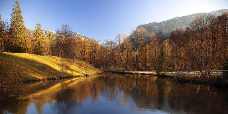 горы, осень, германия, озеро, поляна, Альпийский пейзажphoto preview