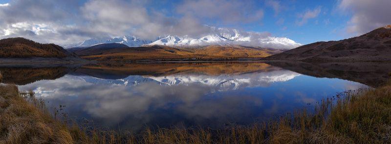 алтай, озеро , утро, рассвет, вода, горы, джангысколь, отражение, осень, северо-чуйский, хребет Джангысколь на рассветеphoto preview