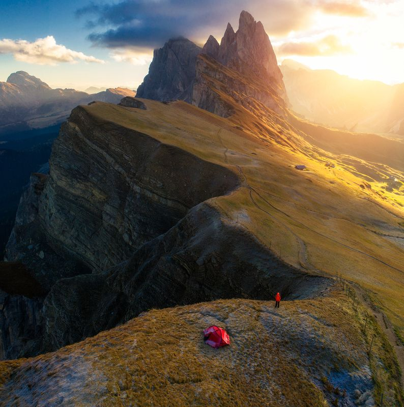 seceda, sunrise, dolomites Secedaphoto preview