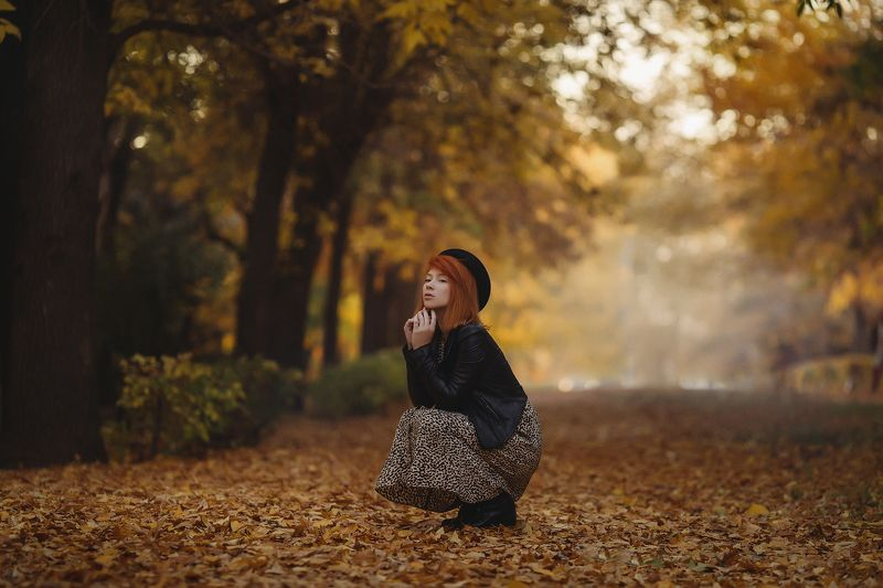 осень девушка туман Rememberphoto preview