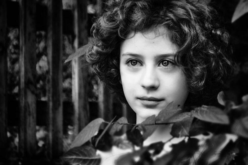 portrait, boy, b&w, портрет, мальчик, черно-белый The young faunphoto preview