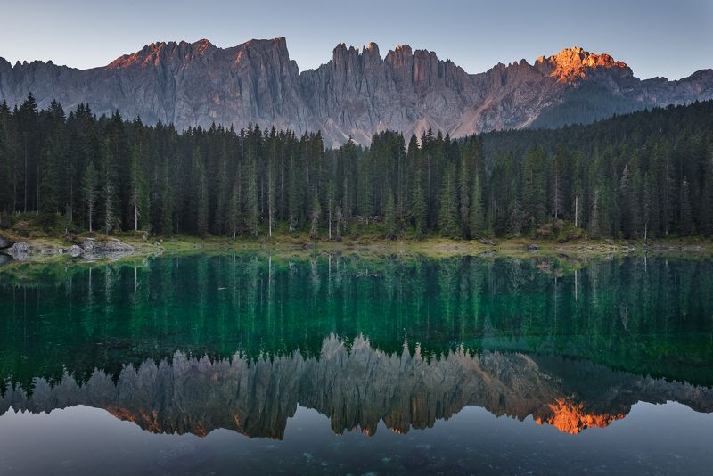 alpine,alps,background,beautiful,europe,forest,italy,lake,landscape,mountain,nature,peak,reflection,scenic,sky,sunrise,tourism,travel,turquoise water,view,water Carezzaphoto preview