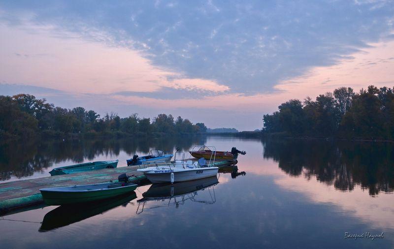утро, рассвет, река, восход, октябрь Когда восходит заряphoto preview