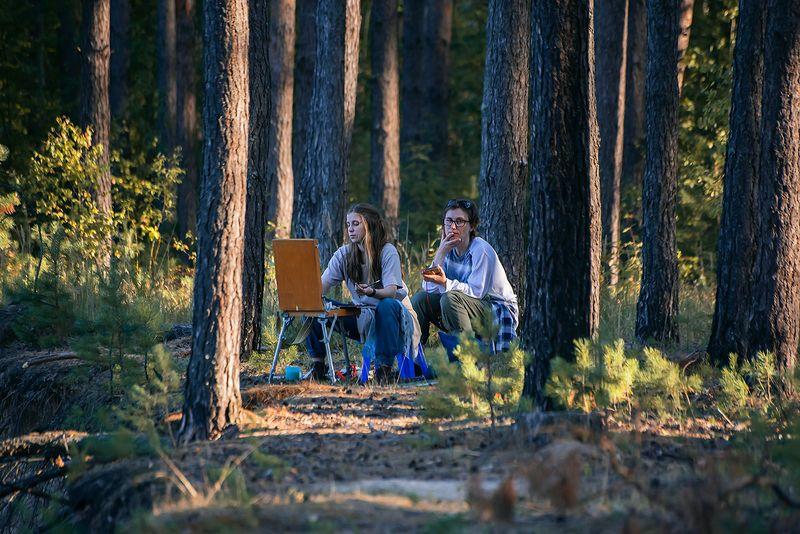 сосны, лес, лесная река, высокий берег, обрыв, мещёра, рязанская область Когда деревья были большими …photo preview