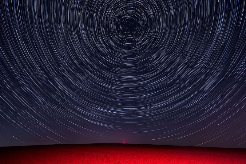 south moravia, moravia, czechia, czech republic, landscape, waves, fields, red, light, harvest, sowing, tv, antenna, star trails, stars, swirl, northern star Extraterrestrialphoto preview